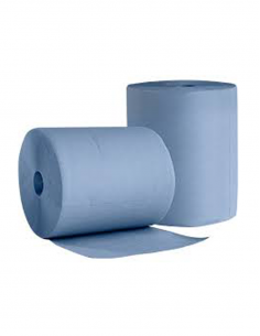 Putztuch- Industrierolle, 3-lg., Ø 30 cm, 36 cm, rec.Super saugfähi blau 1000 Blatt - 1 Rolle