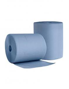 Putztuchrolle Sobsy Wischtuch 3-lagig Papier Blau Industrierolle 30x36cm 1000 Blatt - 1 Rolle
